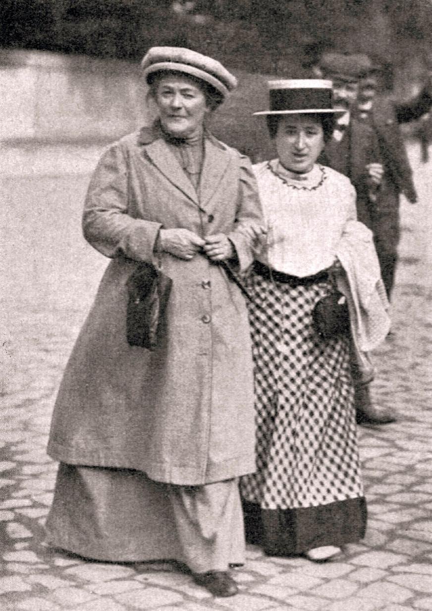 Clara Zetkin og Rosa Luxemburg árið 1910